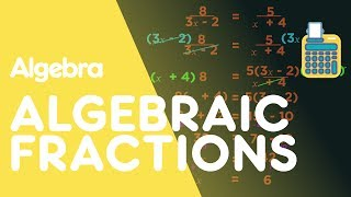 Algebraic fractions are simply fractions with algebraic expressions either on the top, bottom or both. We treat them in the same way as we would numerical fractions. In part 1 we saw how to simplify, and add and subtract algebraic fractions. We discovered that algebraic fractions follow the same principles as numeric fractions. In this video we're going to look at how to solve problems involving algebraic fractions. When solving, we could treat them as fractions and make the same denominator to add or subtract. But it's much easier to cross multiply to get rid of the denominators completely, so this is the method we use in this video. Multiply up one denominator at a time, making sure you multiply every numerator. Do not miss any term out. Multiply EVERYTHING in the question. Quite often when solving algebraic fractions, we end up with quadratics which we need to factorise. This then means we might end up with two different values of x. As always in maths, it's really good practice to go back and check your answers, but substituting them in.SUBSCRIBE to the FuseSchool YouTube channel for many more educational videos. Our teachers and animators come together to make fun & easy-to-understand videos in Chemistry, Biology, Physics, Maths & ICT.VISIT us at www.fuseschool.org, where all of our videos are carefully organised into topics and specific orders, and to see what else we have on offer. Comment, like and share with other learners. You can both ask and answer questions, and teachers will get back to you.These videos can be used in a flipped classroom model or as a revision aid. Find all of our Chemistry videos here:https://www.youtube.com/watch?v=cRnpKjHpFyg&list=PLW0gavSzhMlReKGMVfUt6YuNQsO0bqSMV Find all of our Biology videos here: https://www.youtube.com/watch?v=tjkHzEVcyrE&list=PLW0gavSzhMlQYSpKryVcEr3ERup5SxHl0 Find all of our Maths videos here:https://www.youtube.com/watch?v=hJq_cdz_L00&list=PLW0gavSzhMlTyWKCgW1616v3fIywogoZQ Twitter: https://twitter.com/fuseSchoolAccess a deeper Learning Experience in the FuseSchool platform and app: www.fuseschool.orgFollow us: http://www.youtube.com/fuseschoolFriend us: http://www.facebook.com/fuseschoolThis Open Educational Resource is free of charge, under a Creative Commons License: Attribution-NonCommercial CC BY-NC ( View License Deed: http://creativecommons.org/licenses/by-nc/4.0/ ).  You are allowed to download the video for nonprofit, educational use. If you would like to modify the video, please contact us: info@fuseschool.org