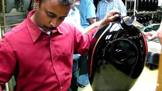 9. Hand painting of the Royal Enfield Tank