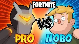 Fortnite Animation - NOOB VS PRO! (Fortnite Cartoon)