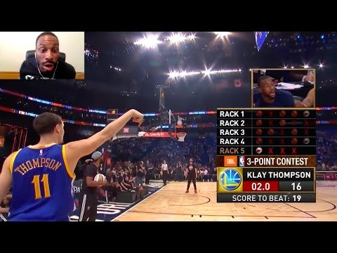 NBA 2017 All-Star Weekend Three Point Contest Reaction! Kyrie! Klay! Eric Gordon! Swaggy P! (видео)
