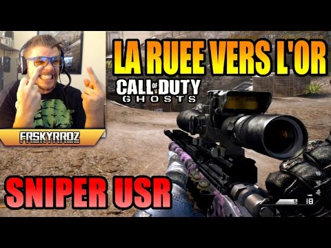 Sniper - La ruée vers l'or au sniper sur Call of duty Ghosts. ○ SkyRRoZ T-Shirt : http://electronicgamersleague.com/collections/skyrroz ○ Facebook : https://www.facebook.com/FRSkyRRoZ ○ Twitter...