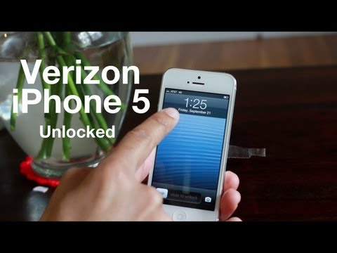 Verizon's iPhone 5 Comes Unlocked Out-of-the-Box