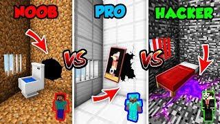 Minecraft NOOB vs. PRO vs. HACKER: SECRET ESCAPE ROUTE in Minecraft! (Animation)