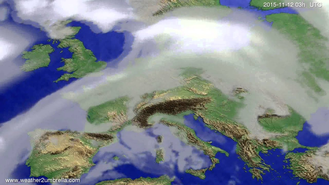 Cloud forecast Europe 2015-11-09