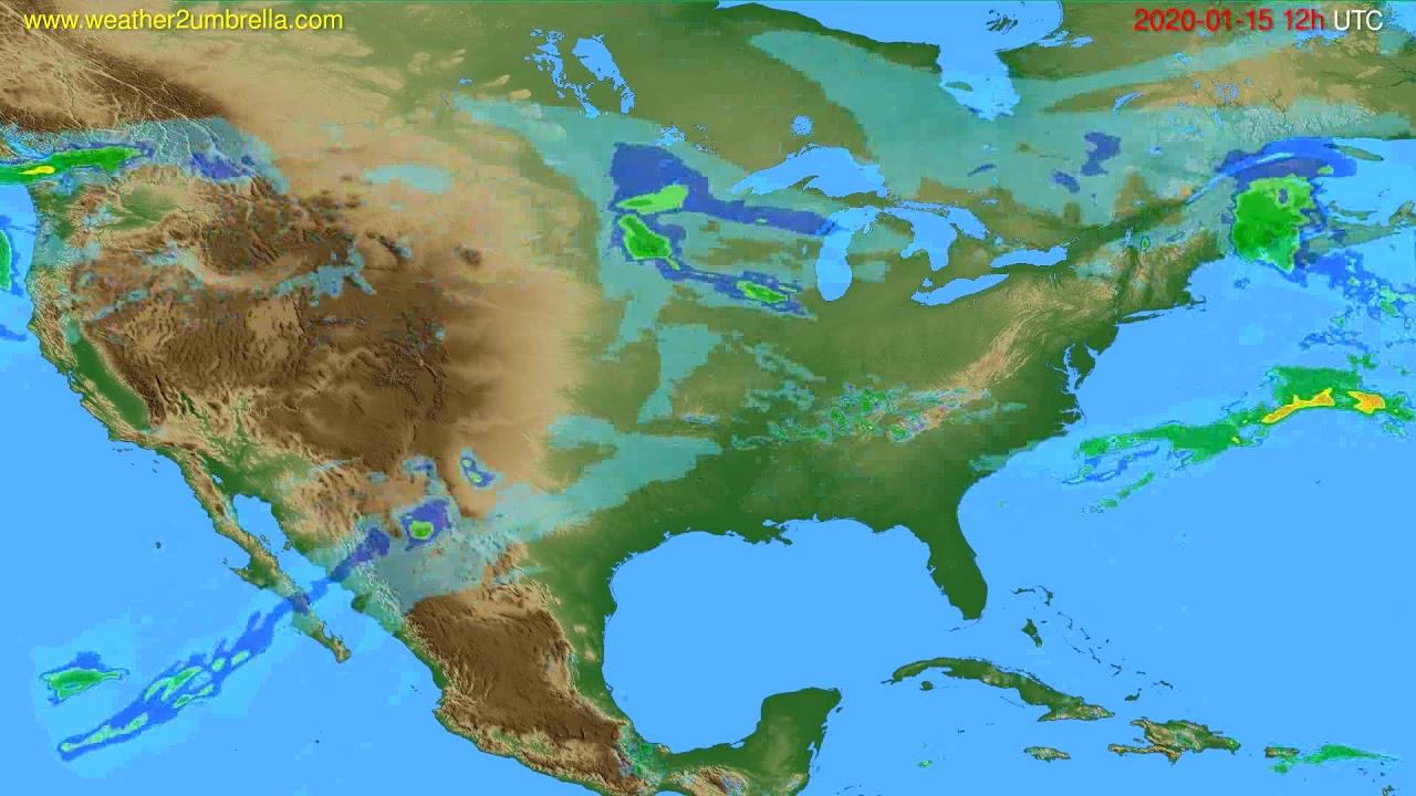 Radar forecast USA & Canada // modelrun: 00h UTC 2020-01-15