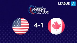 Highlights 🎥: United States defeats Canada  🇨🇦  4-1 in Orlando