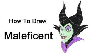Видео: как нарисовать голову Малефисенты