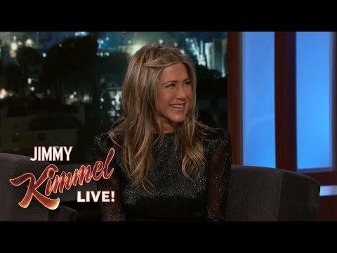 Jimmy Kimmel Confronts Jennifer Aniston About Her Friendsgiving Dinner