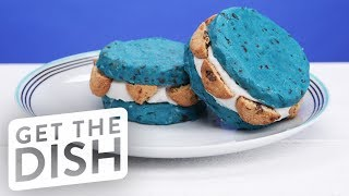 Cookie Monster Ice Cream Sandwich | Get the Dish by POPSUGAR Food