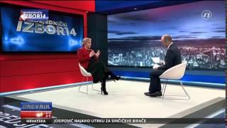 Intervju Kolinde Grabar-Kitarović za Dnevnik Nove TV (29.12.2014.)