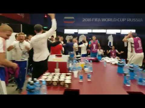 Россия - Испания. Победная раздевалка сборной России. ЧМ-2018