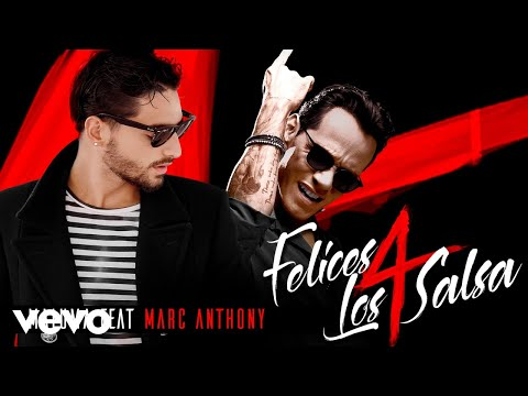 Letra Felices los 4 (Salsa Version) Marc Anthony Ft Maluma