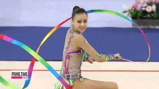 Son Yeon-jae Earns First Asiad Gold In All-around Final   AG 리듬체조: 손연재, 개인 종합