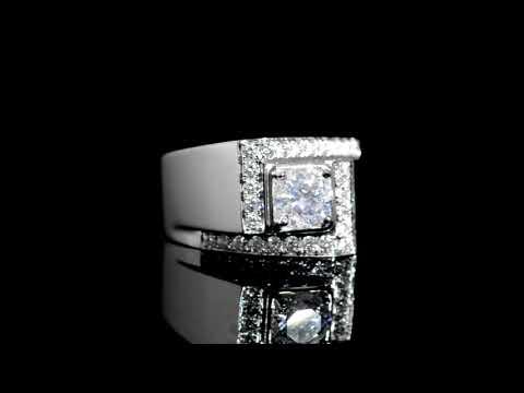 Men's 14k White Gold 1.06ct Canadian Diamond Ring