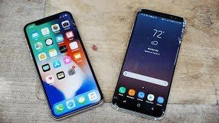 Video iPhone X vs Samsung Galaxy S8 Drop Test! MP3, 3GP, MP4, WEBM, AVI, FLV November 2017
