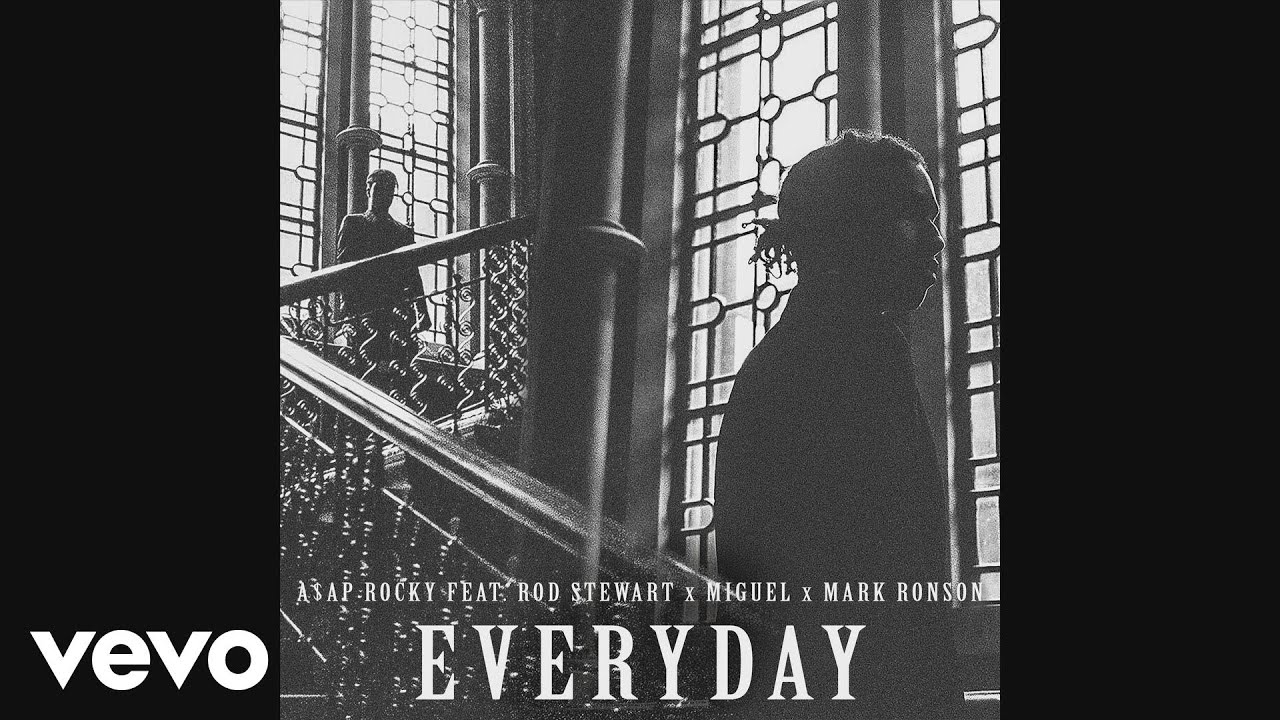 A$AP Rocky – Everyday (Audio) ft. Rod Stewart, Miguel, Mark Ronson #Música