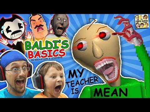 CRAZY SPANKING TEACHER!! Baldi's Basics in Education & Learning! (FGTEEV Math Game) (видео)