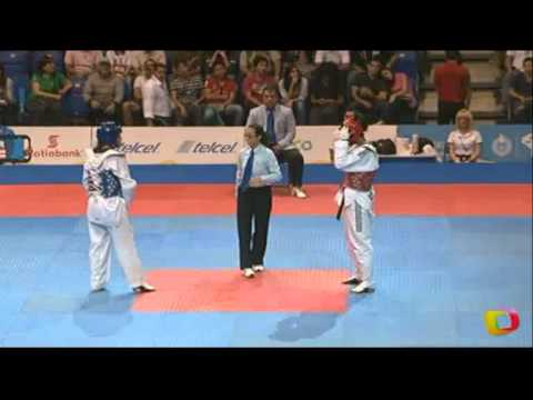 Nikki Martinez (PUR) v Glenhis Hernandez (CUB) | Taekwondo at the 2011 Pan Am Games (видео)