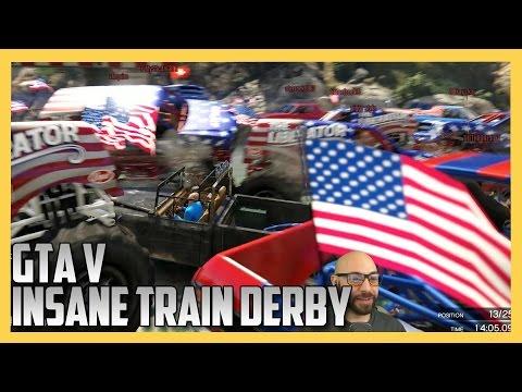 GTA 5 Online - Insane Train Derby (GTA V) | Swiftor
