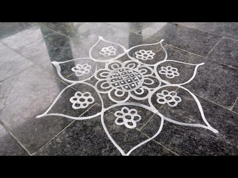 Video 4 | Wet Rice Flour Rangoli | Simple Arisi Maavu Kolam download in MP3, 3GP, MP4, WEBM, AVI, FLV January 2017