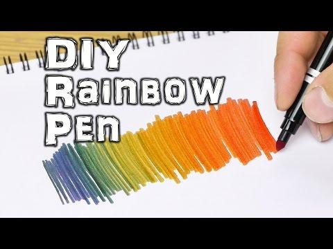 他單靠「一支筆」就可以畫出彩虹七彩顏色,連美術老師也都要立馬筆記下來!