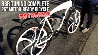 This is the complete installation guide on how to install a standard 2-stroke 48/66/80cc engine kit on a BBR Tuning Motor-Ready bike frame. This motorbike is great for outdoor sports and commuting.Learn More ► https://goo.gl/i5OnW9BikeBerry.com ►http://bit.ly/1FZ8nPpFacebook ► http://on.fb.me/1wWG4fDInstagram ► http://bit.ly/1aM3WxZTwitter ► https://twitter.com/bikeberrycomEverything you need to make your own Motorized Bicycle.