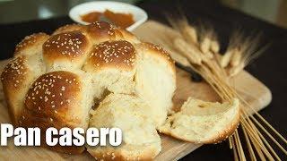 Pan casero con miel y ajonjolí