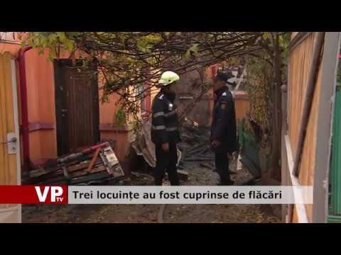 Trei locuințe au fost cuprinse de flăcări