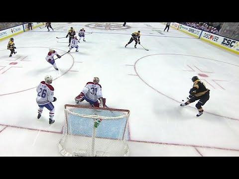 Video: David Pastrnak scores equalizer after nice passing play by Bruins
