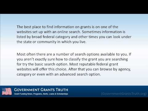 Read How to Apply for Federal Government Grants
