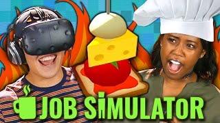 JOB SIMULATOR: CHEF - VR HTC Vive (Teens React: Gaming)