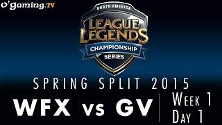 LCS NA Spring 2015 - W1D1 - WFX vs GV