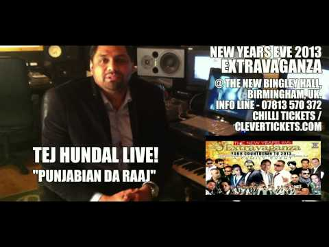 TEJ HUNDAL VIDEO MESSAGE -THE NEW YEARS EVE EXTRAVAGANZA - NEW BINGLEY HALL BIRMINGHAM