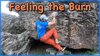 Cromlech Bouldering Roadside Rampless 7b by The Climbing Nomads