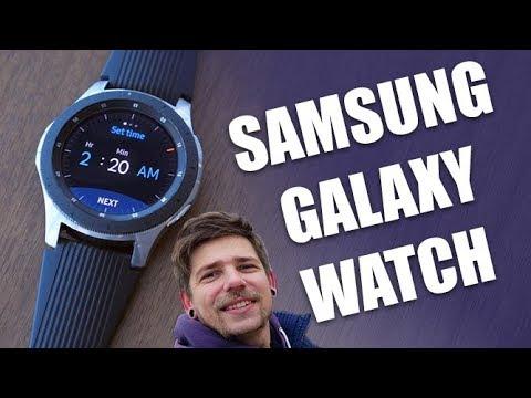 Samsung Galaxy Watch - первый взгляд на смарт-часы! онлайн видео