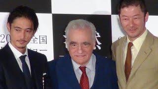 マーティン・スコセッシ監督、窪塚洋介、浅野忠信/映画『沈黙 -サイレンス-』来日記者会見
