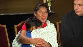 Asylum-seeker mother in USA reunites with son