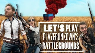 Let's Play PUBG gameplay with Ian, Chris and Aoife - Chicken dinners for all!