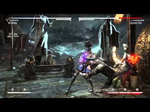 Mortal Kombat X: Kitana Mournful Combo Video! (видео)