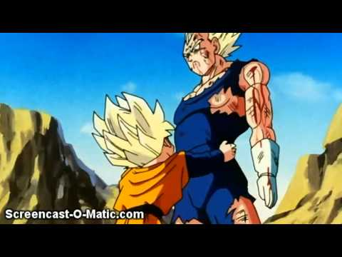 vegeta knocks out trunks and goten