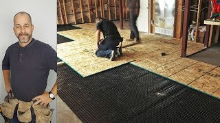 DIY How to Install a Basement Subfloor