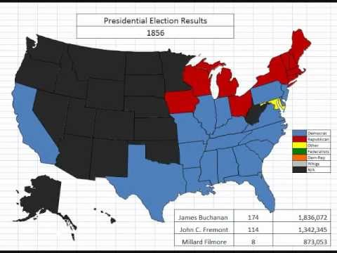 Map: The History of Presidential Elections By State