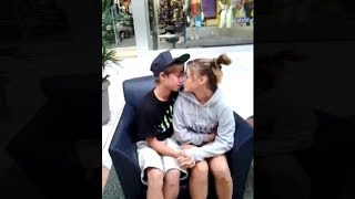 kids have an awkward kiss in public.. These videos are so funny to watch! Leave a like! GET MY NEW MERCH! (Pretty cheap)...