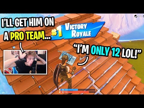 I died and spectated a 12 year old pro Fortnite player... (HE CARRIED ME!)