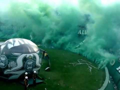 Video - Coritiba 3x1 Atlético/PR - Entrada em Campo / Recepção da Torcida - Camp. Paranaense 2013 - Império Alviverde - Coritiba - Brasil - América del Sur