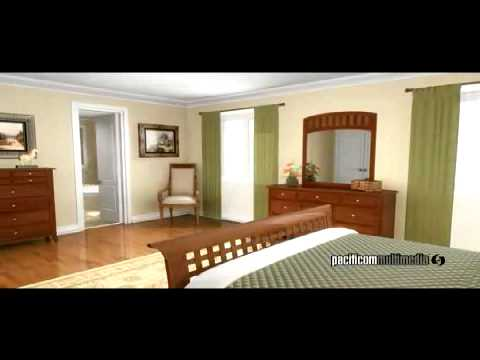 interior 3d animation - 3D architectural animation of a house home interior and exteriorcreated by Pacificom Multimedia. A virtual fly through, fly over in photo-realistic computer 3D.