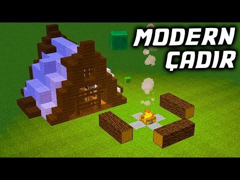 MODERN ÇADIR YAPIMI - Türkçe Minecraft BKT