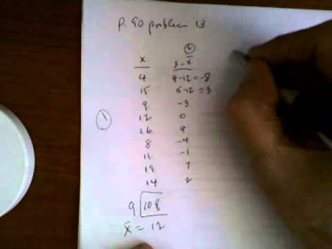 Calculating standard deviation by hand