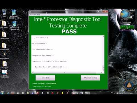 Ferramenta da Intel para  Diagnósticos de Processador - IPDT Processor Diagnostic Tool
