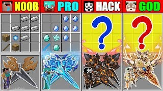 Video Minecraft NOOB vs PRO vs HACKER vs GOD SWORD GAUNTLET CRAFTING MONSTER BATTLE CHALLENGE Animation MP3, 3GP, MP4, WEBM, AVI, FLV Juni 2019